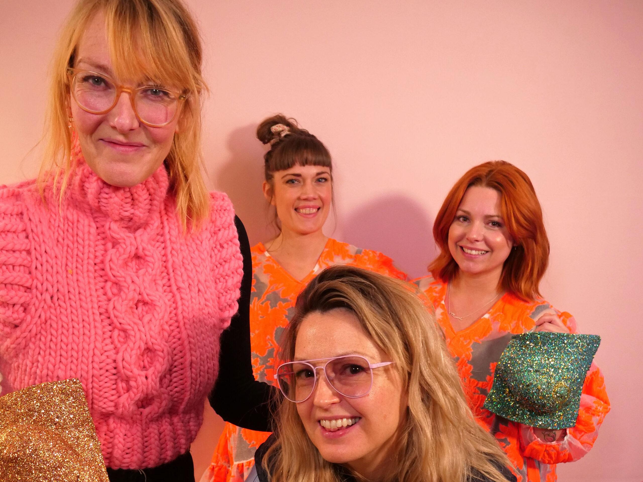 Ditte & Louise sammen med Sara Rode Hamann og Sine Kristine Kjellerup Christensen til Storydays