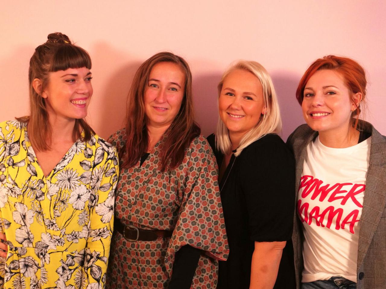 Sara Rode Hamann, Laura Vilsgaard, Cecilie Schmeichel og Sine Kristine Kjellerup Christensen til Storydays