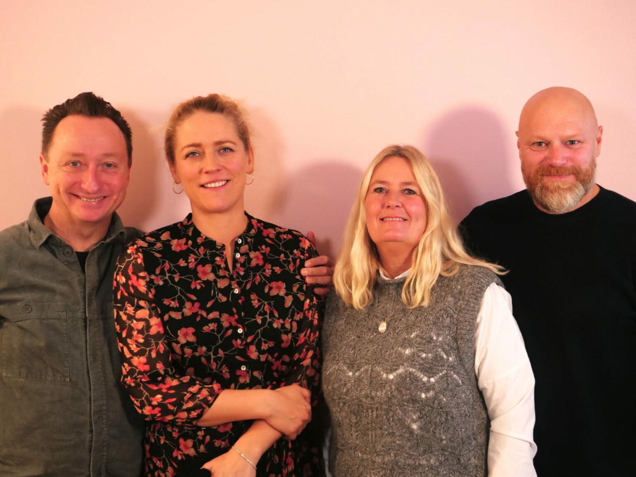 Søren Fauli, Annika Lillelund Fauli, Mads Steffensen og Marianne Foldberg Steffensen til Storydays